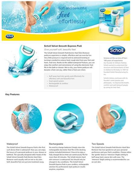 Scholl Velvet Smooth Wet And Dry Pedi Rechargeable