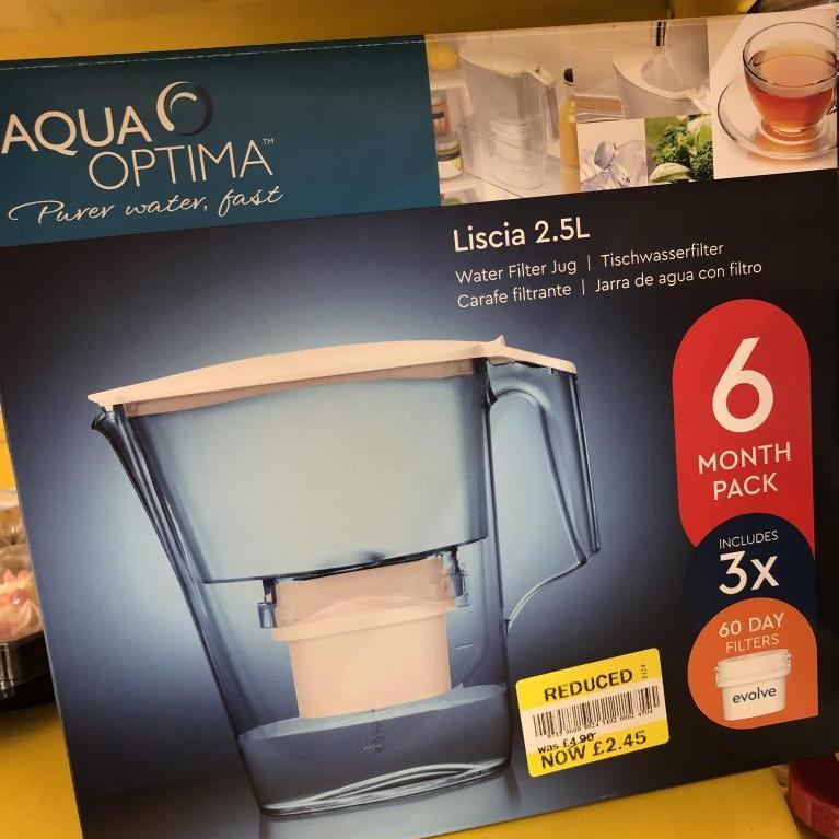 Aqua Optima Liscia 2 5L Water Filter Jug with 3 x 60 day