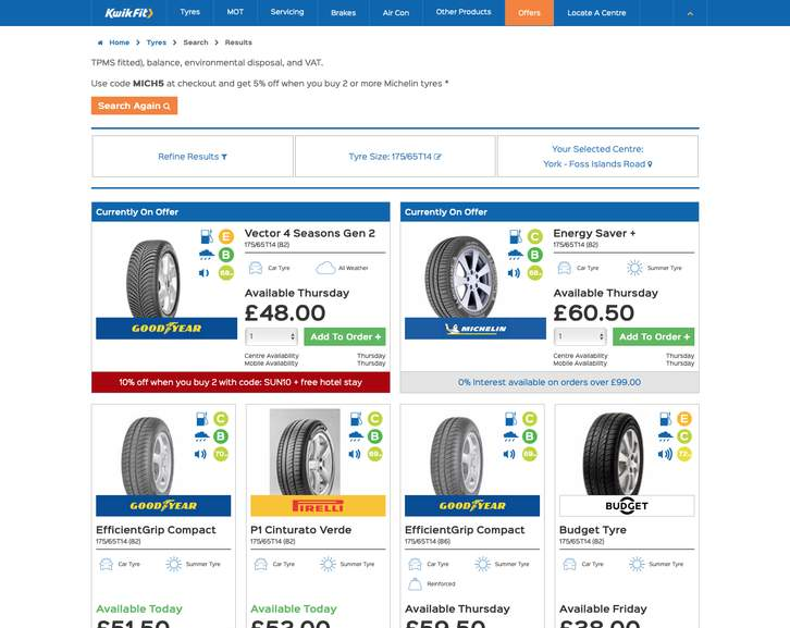 10% off Goodyear Tyres & Claim A Free One Night Hotel Stay