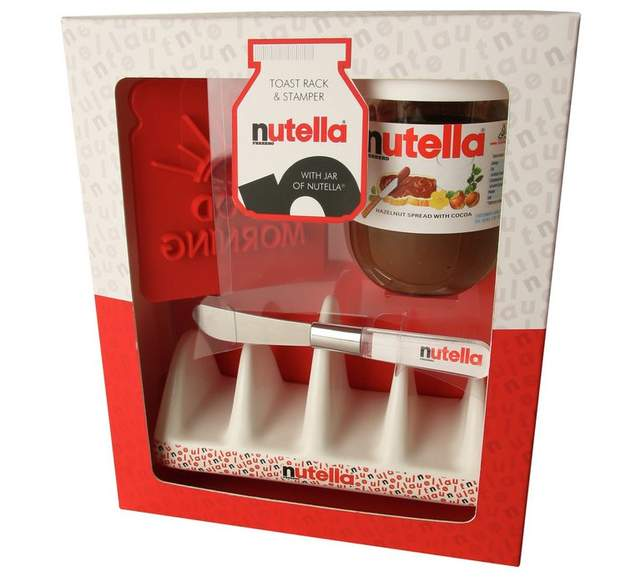Various reductions on food gift sets nutella toast rack