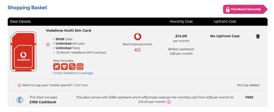 Vodafone Retention Deals Sim Only - Picture Vodafone and Foto