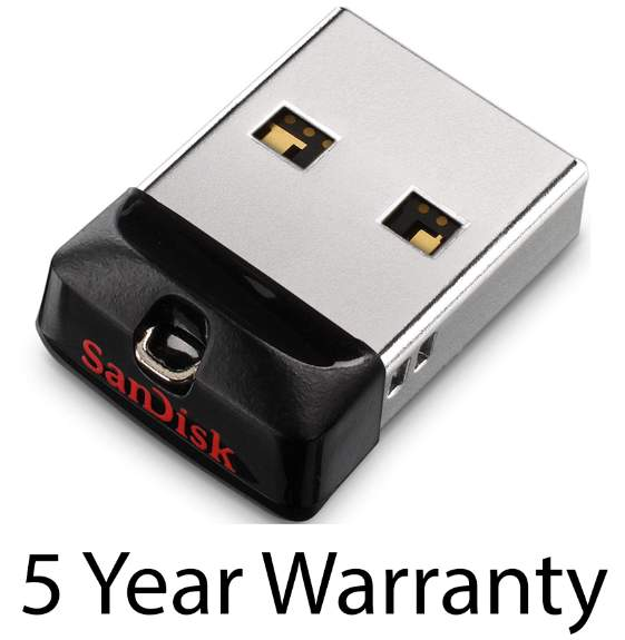 SanDisk Cruzer FIT USB Flash Drive 32GB (Ideal for