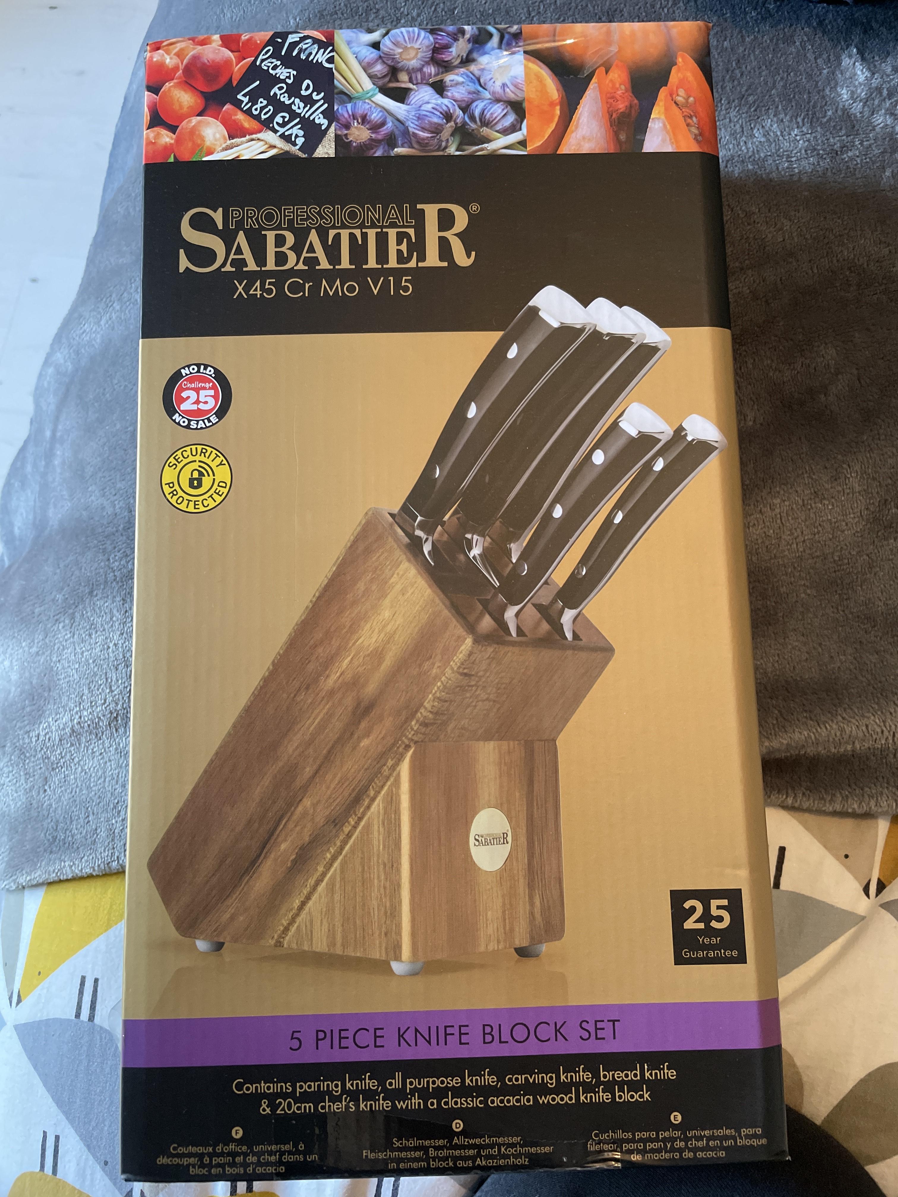 Sabatier 5 Piece Knife Block Set 35 Asda Bromborough Hotukdeals