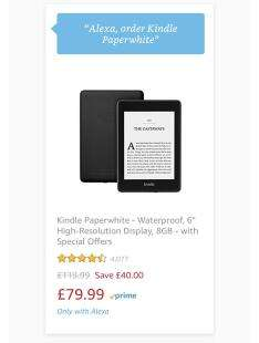 Kindle paperwhite 8gb with special offers - £79 99 / 32GB version