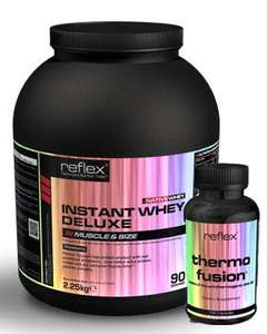 Reflex Whey deluxe and free Thermo fusion@ affordable supplements £39.99 delivered