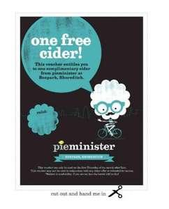 FREE CIDER @ pieminister Boxpark Shoreditch