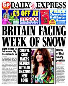 £5 off £40 (poss £10 off £40) @ Tesco with Daily Star(30p) / Daily Express(50p)