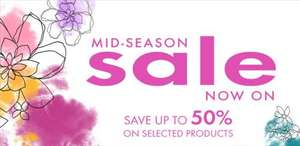 Mid Season Sale Now On - Save up to 50% off selected items @ Pia Jewellery