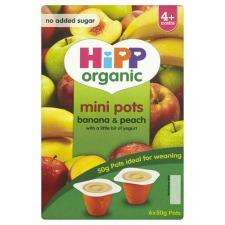 Hipp Organic UK giving away banana & peach mini pot