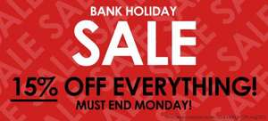 15% off everything + sale items @ Stand-out.net