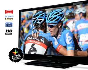 LC32LE144E 32 inch LED Backlight HD Ready LCD TV - £249 inc. Delivery, VAT and 5 Year Warranty  @ Sharp affinity