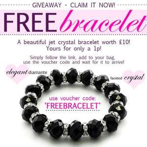 Treasure Box Jet Crystal Bracelet only 1p! (plus £1.50 p&p)