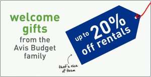 Up to 20% off Avis and Budget car rental