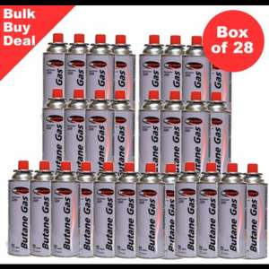 BOX OF 28 GAS CANNISTERS FOR THE CAMPING STOVE DEAL - £29.98 Delivered @ OutdoorWorld