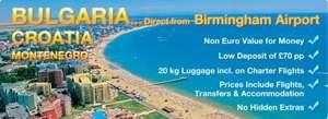 Free Birmingham airport parking wyb summer holiday to Bulgaria with balkanholidays