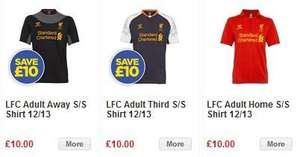 Liverpool FC Warrior Shirt 2012-2013 (Home, Away and 3rd Shirts) for £10 (+ £3.99 p&p) from Official LFC Website!