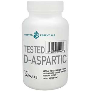 2.99 for Tested Nutrition - D-Aspartic 120 caps from phd-fitness.com free delivery