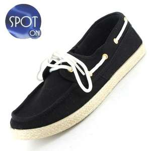 Taylor Boat Canvas Shoe – Sizes 3 - 8. £2.99 + £3.95 del was £8.99 + del at Gluv