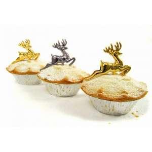 Gold Reindeer Picks - Online @ PartyPieces - £1.29