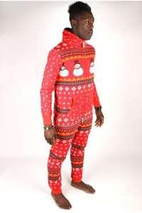 1ZE Snowman Onesie - Red - Medium only £20 plus £3.95 P&P