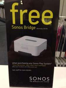 Sonos Free Bridge with Play 1 / 3 / 5 (Instore) @ Apollo