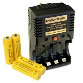 Memorex 2 Hour Express Ni-Cd AA Battery Charger + 4 AA 800Mah Batteries £3.99 @ Tooltime with free delivery