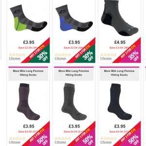 3 pairs of more mile hiking / running / outdoor / train socks men / women children £8 delivered