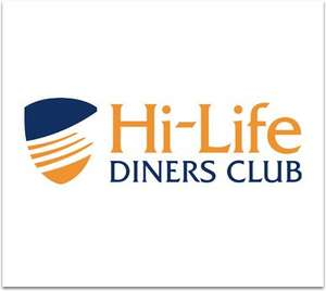 3 Month's Free Hi Life Diners Club