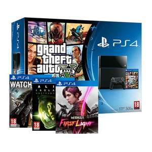 PS4 + GTA V + WATCH DOGS + ALIENS ISOLATION + INFAMOUS FIRST LIGHT £339.99 AT shopto Ebay
