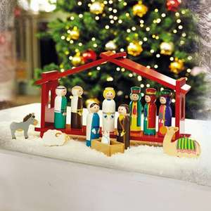 GLTC Away in A Manger Nativity Set Now £18.50 + £3.95 delivery