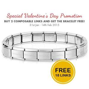 free 18 link nomination bracelet from £1.30 @ identity jewellers glitch