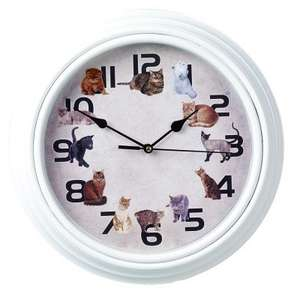 Meowing Cat Wall Clock just £15.94 delivered at Betterware (free del orders over £35)