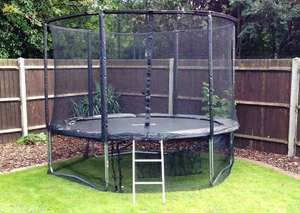 Cortez Deluxe Black 10ft Trampoline with enclosure and accessories £179.99 @ fun4kids