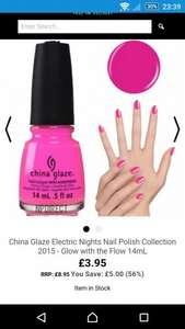 China Glaze £3.95 @ nailpolishdirect