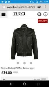 firetrap mens bomber jacket £34 + £6 del (£40) - Tucci