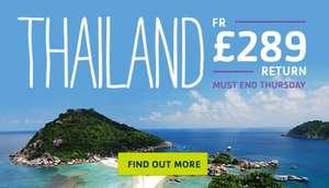 Return flights to Thailand for £289 (STA Travel)
