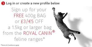 Free Royal Canin cat food sample or voucher