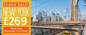 Flash SALE - NY For only £269 return @ STA Travel