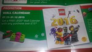 FREE lego 2016 calender with £15 spend @ lego