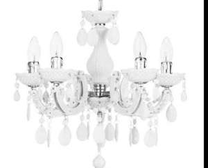Marie Teresa white chandelier 5 light £39.00 @ Litecraft