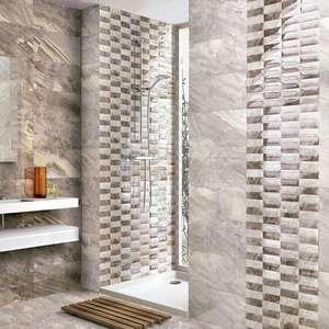 High quality CERAMIC Mediterranean MARBLE effect bathroom wall tiles from £8+ a  square metre @ wallsandfloors