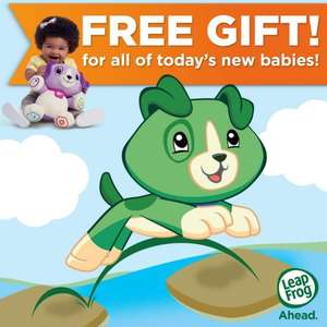 Free LeapFrog Scout Or Violet Toy for all babies born on the 29th Feb