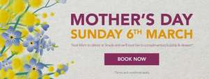 FREE Dessert and Bubbly for Mums with their Main Meal on Mother's Day at Strada