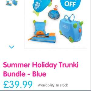 Trunki for your little ones on offer set has 45 percent off now £39.99 @ Trunki