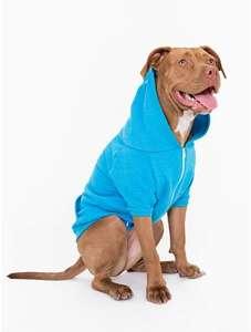 Neon Heather Blue Flex Fleece Dog Zip Hoodie £12 @ americanapparel.co.uk