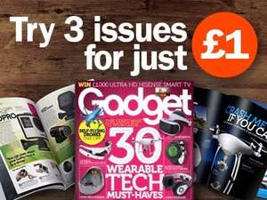 Gadget magazine - 3 trial issues for £1