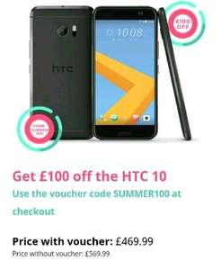 HTC 10 £469.99 using £100 off code (Free Express Delivery) @ HTC Store
