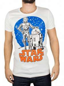 White Star Wars Droids T-Shirt Stand-Out £4.95 + £1.95 = £6.90