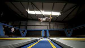 Flip for a quid on our opening weekend! 24th/25th Sept Oxgyen Free jumping trampoline Park Kirkstall Leeds