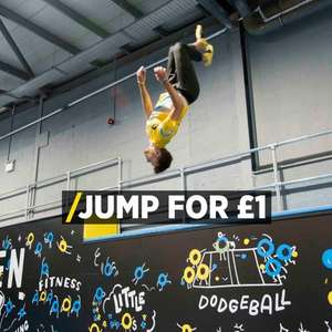 Oxygen Free Jumping Trampoline Park LEEDS only £1 with NEW code limited to 100 be quick
